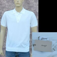 BRIONI New sz 50 - 40 M Authentic Designer Mens Luxury Cotton Polo Shirt white