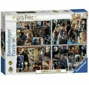 Ravensburger Harry Potter Bumper Puzzle Pack of 4 x 100 Piece Jigsaw, Game Set
