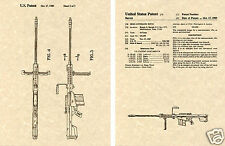 M82 BARRETT 50 CAL MACHINE GUN PATENT Art Print READY TO FRAME!!!!! .50