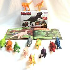 "Prextex ""Life Like Dinosaur Models"" 12 Pack with Book of Dinosaurs"