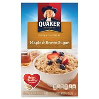 Quaker Oats Instant Oatmeal 10 Packets/BX Maple Brown Sugar 01190