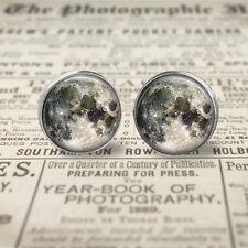 Full Moon, Moon Earrings, 12mm Post Earrings, Jewellery, Gift Box, Gift for Her.