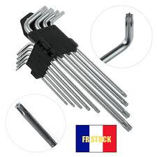 9Pcs Ensemble de clés Torx étoiles métriques T10 T15 T20 T25 T27 T30 T40 T45 T50