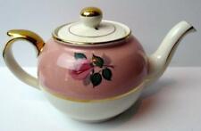 Arthur Wood Pink Roses Teapot England 8629