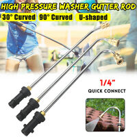 High Pressure Washer Gutter Cleaner Lance/Wand 1/4'' Quick Connect For Karcher J