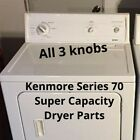 Kenmore 70 Series All 3 Dryer Knobs Super Capacity Parts photo