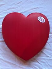 """Huge Red Heart Window Decoration Plastic  19"""" Inch Union Products Blow Mold"""