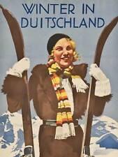 TRAVEL DEUTSCHLAND GERMANY HOHLWEIN WINTER SKI 30X40 CM ART PRINT POSTER BB9727
