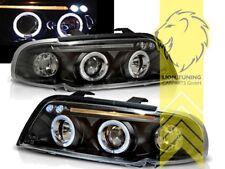 LED Angel Eyes Scheinwerfer für Audi A4 B5 8D Limousine Avant schwarz
