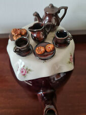 Large Paul Cardew Brown Betty Tea Table Teapot Rare Design