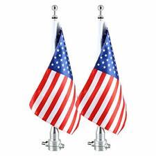 2x Motorcycle Flag Pole Mount & 6x9 American USA Flag US SHIP
