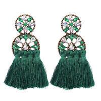 18K Gold Plated Bohemian Tassel Cubic Zirconia Earrings For Women Jewelry Gifts