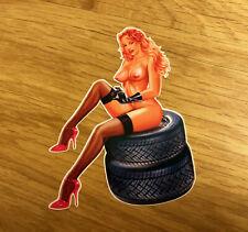 Pin up Beauty v8 autocollant sticker retro rockabilly vintage sexy girl lady pu045