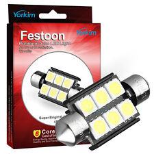 Yorkim 4 X White Error free Light 36mm 5050 6-SMD 12V Festoon LED Light Bulbs