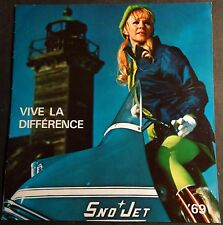 VINTAGE RARE FRENCH 1969 SNO-JET  SNOWMOBILE SALES BROCHURE NICE 10 PAGES  (839)