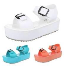 Markenlose Damen-Sandalen & -Badeschuhe aus Kunstleder Plateau