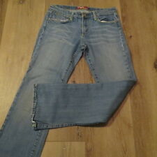 J2 Ladies MISS VIGOSS Distressed Faded Denim Jeans Embroidered Back Pocket 11/12