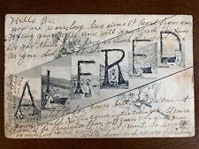 1907 Alfred Name Postcard D22