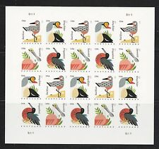 2015 #4991-4994 Imperf 35¢ Coastal Birds Pane of 20 Without Die Cuts MNH