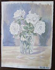 Image Moderne Floral Rose Blanches en un Pot Peinture Partir Maître Pancaldi P23