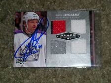 Justin Williams Hand Autographed UD Black Diamond 2010-11 Quad Jerseys Card  COA