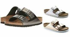 BIRKENSTOCK 752723 Metallic Copper/Silver Leather Arizona Soft Footbed *NIB*