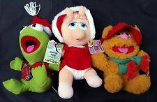 1988 McDonald's MUPPET BABIES Kermit Miss Piggy Fozzie Christmas Plush w/ Tags