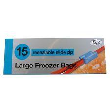 15 X Tidyz Extra Large Slide Zip Resealable Reusable Freezer Food Bags 23cmx25cm