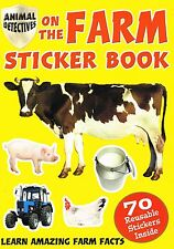 Animal Detectives on The Farm Sticker Book A4 Size Plus 70 Stickers