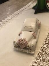 """Vintage Princess House """"Just Married"""" Ivory Porcelain Car With Box"""