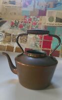 Vintage (Douro B&M) Copper Kettle w/ Brass & Wood Handle Made in Portugal