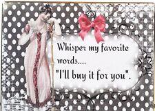 Regency Victorian Whisper My Favorite Words Art Block Shelf Sitter Wall Plaque