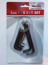 Bloc Hex Key Set 14 Piece zinc plaqué acier trempé avec porte-clés