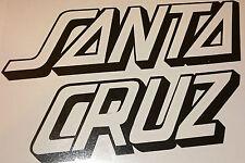 SANTA CRUZ vinyl snowboard skate surf car campervan vinyl sticker black 150mm **