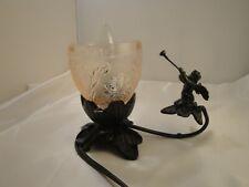 Cupid Black Iron Victorian Lamp