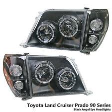 Black Projector Headlight Lamp Fits(Toyota LandCruiser/Prado/90/FJ90/FJ95/96-02)