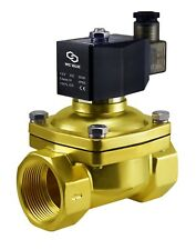 "Brass Zero Differential Electric Air Water Solenoid Valve NC 12V DC 1.5"" Inch"