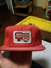Wayne Feeds Rad Light Red K Products Trucker Hat Genuine Vintage!