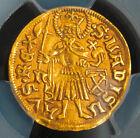 1490, Hungary, Matthias Corvinus. Gold Ducat Coin. Nagybanya mint! PCGS AU-55!
