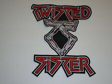 TWISTED SISTER EMBROIDERED BACK PATCH