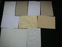 Job Lot CREATIVE Handmade Paper Pack 10 Sheets A5 NEW Neutrals TEXTURED Bargain