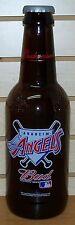 BUDWEISER ~ 2001 ~ ANAHEIM ANGELS ~ MAJOR LEAGUE BASEBALL ~ LARGE GLASS BOTTLE