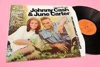 JOHNNY CASH & JUNE CARTER LP CARRYIN ORIG UK 1972 EX+ LAMIANTED COVER