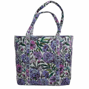 Vera Bradley Iconic Tote Lavender Meadow Purple NWT Flowers Floral