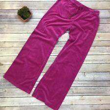 Victoria's Secret Plush & Lush VS Velour Lounge Pants XS Fuschia Pajama Track