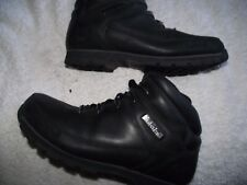 timberland black leather walking hiking trail boots size 7.5 uk good cond