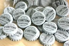 100 Stumptown White Beer Bottle Caps Portland Oregon No Dents Free Shpg!