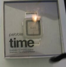 Pebble Time 9.5mm Stainless Steel Case Arctic White Classic Buckle - (501-00021)