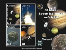 Liberia- Space/Voyager Sheet of 4 Mnh