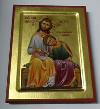 IKONE JOHANNESMINNE Jesus Christus u. Heilige Johannes Icona icono Icon icone